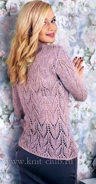 Pink knitted blouse spokes