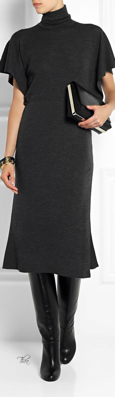 Valentino ● Charcoal Wool Dress