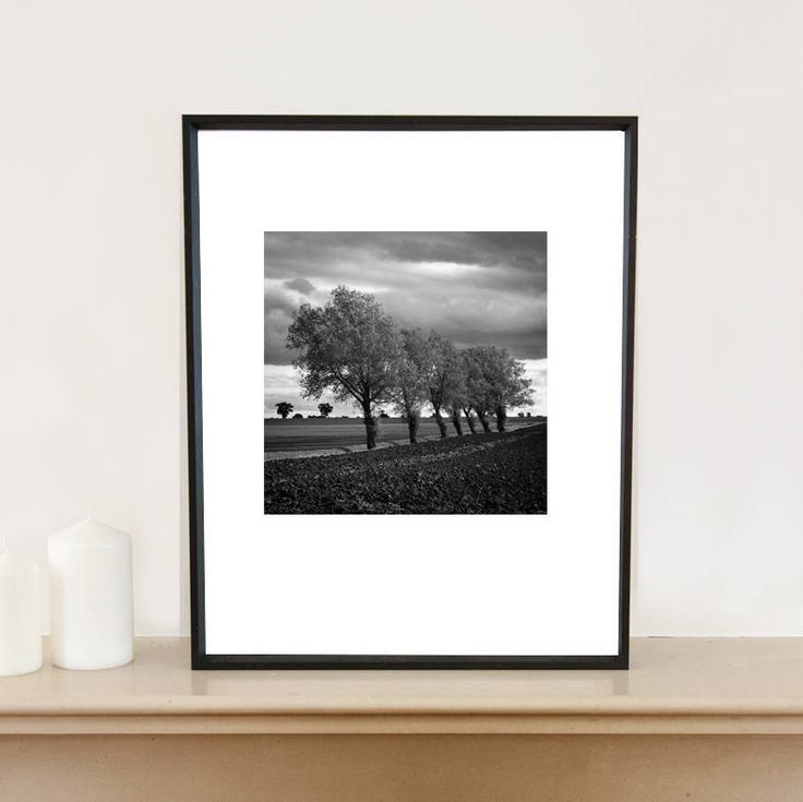 Walsham Le Willows, Black And White Signed Art Print
