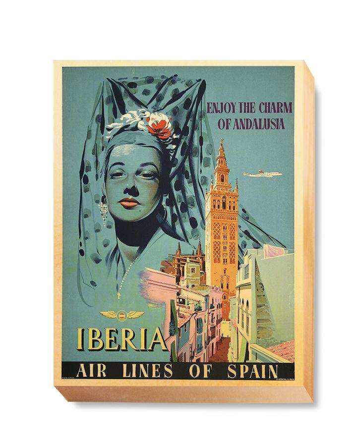 TRV 063 Travel Art Enjoy Iberia Spain