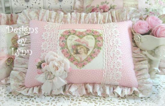 Victorian Sachet Pillows : Pink Lace Ruffled Sachet Pillow VICTORIAN Pinterest Pink, Lace and Sachets