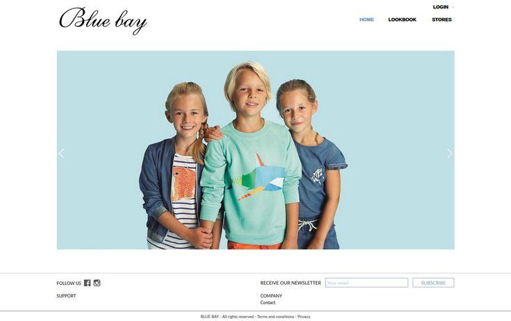 Nieuwe trendy website voor Blue bay. Blue bay staat voor stijlvolle mode voor vouwen, mannen en kinderen. #bluebay #fashion #mode #webdesign #IDcreation