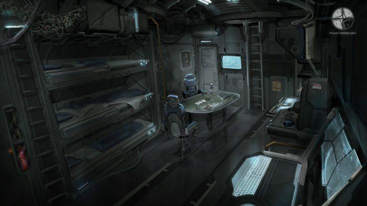 ArtStation - Redeemer Gunship Interior, Tobias Frank