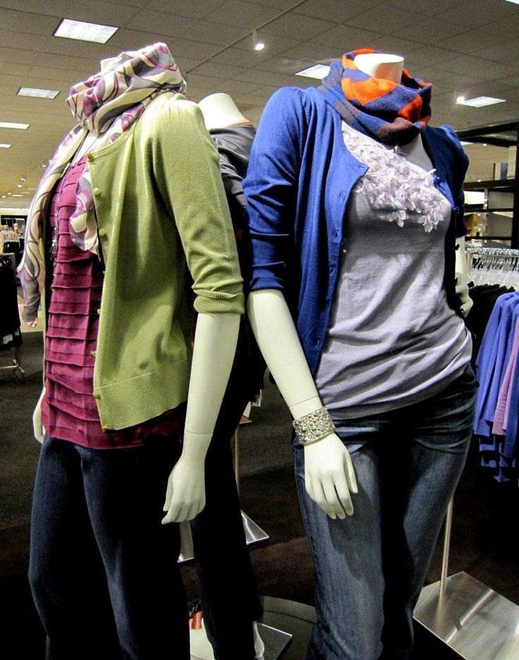 Nordstrom, Interior mannequins, POV Department, Spring cardigan story.