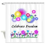 Celebrate Freedom Home Shower Curtains