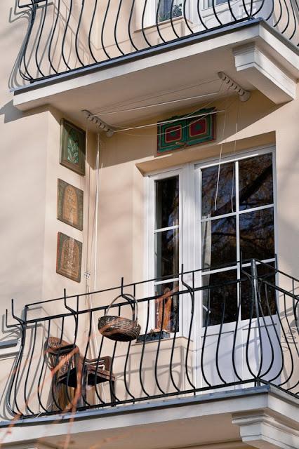 An Artsy Craftsy Balcony In Warsaw Poland