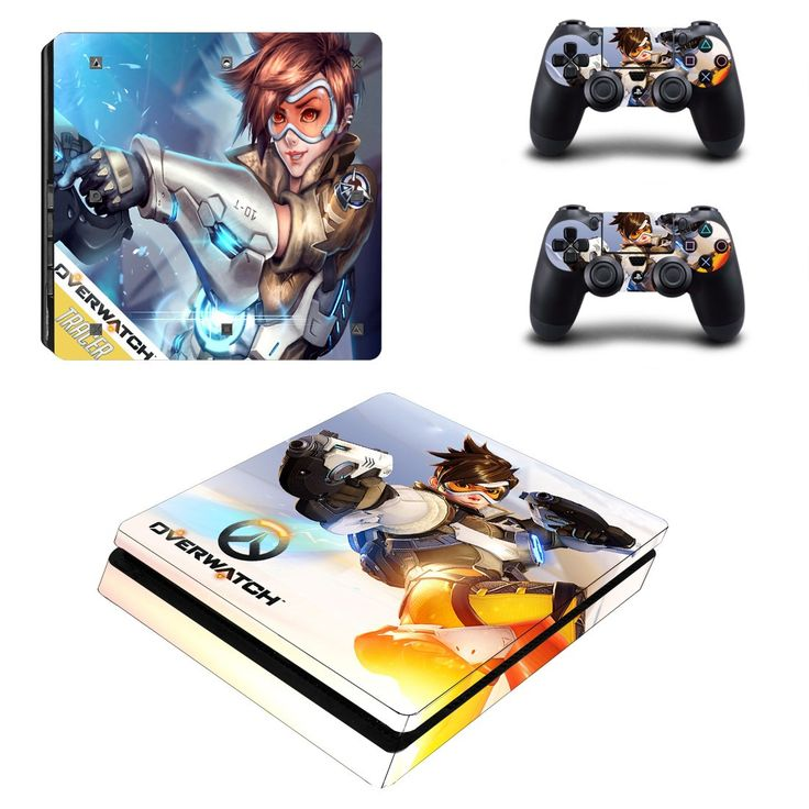 Overwatch Ps4 slim edition skin decal for console and 2 controllers