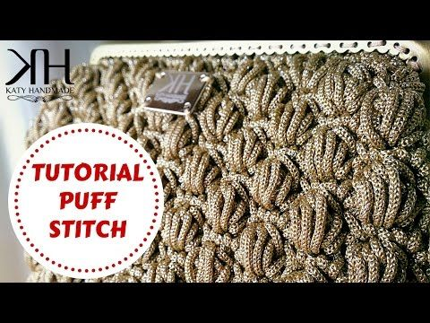 Tutorial crochet | Punto fiorellini in rilievo (o thai) uncinetto || Katy…