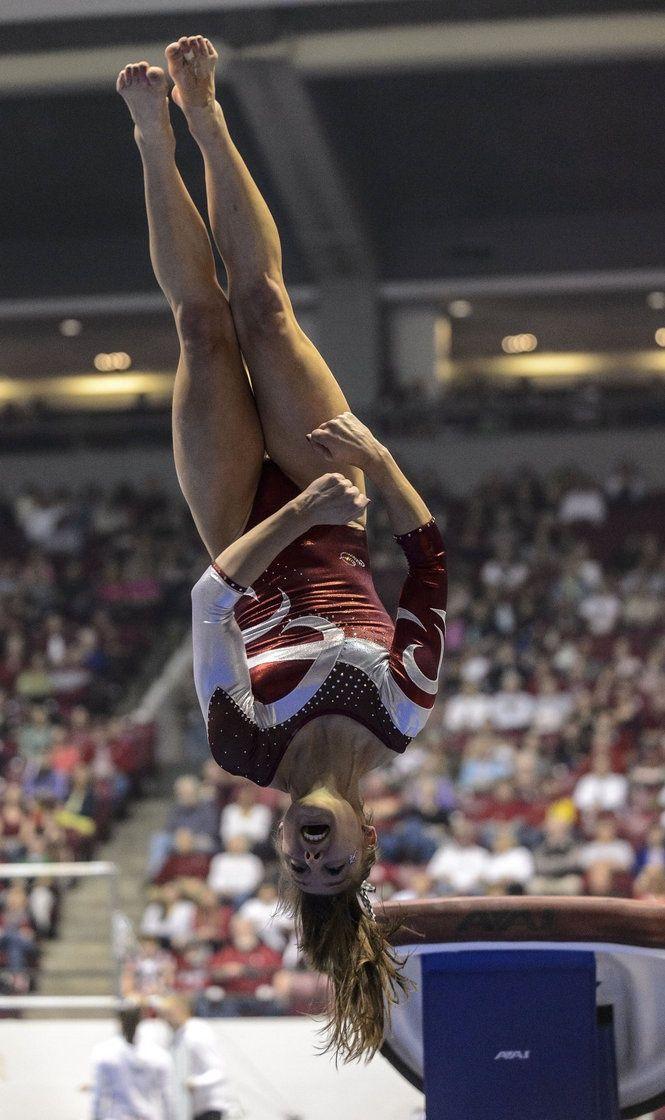 Alabama Gymnastics vs Oklahoma college gymnast collegiate #KyFun moved from Gymnastics: Collegiate board