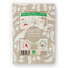 Australian Bush Inspired Christmas Cards - Pack of 10 by Earth Greetings.