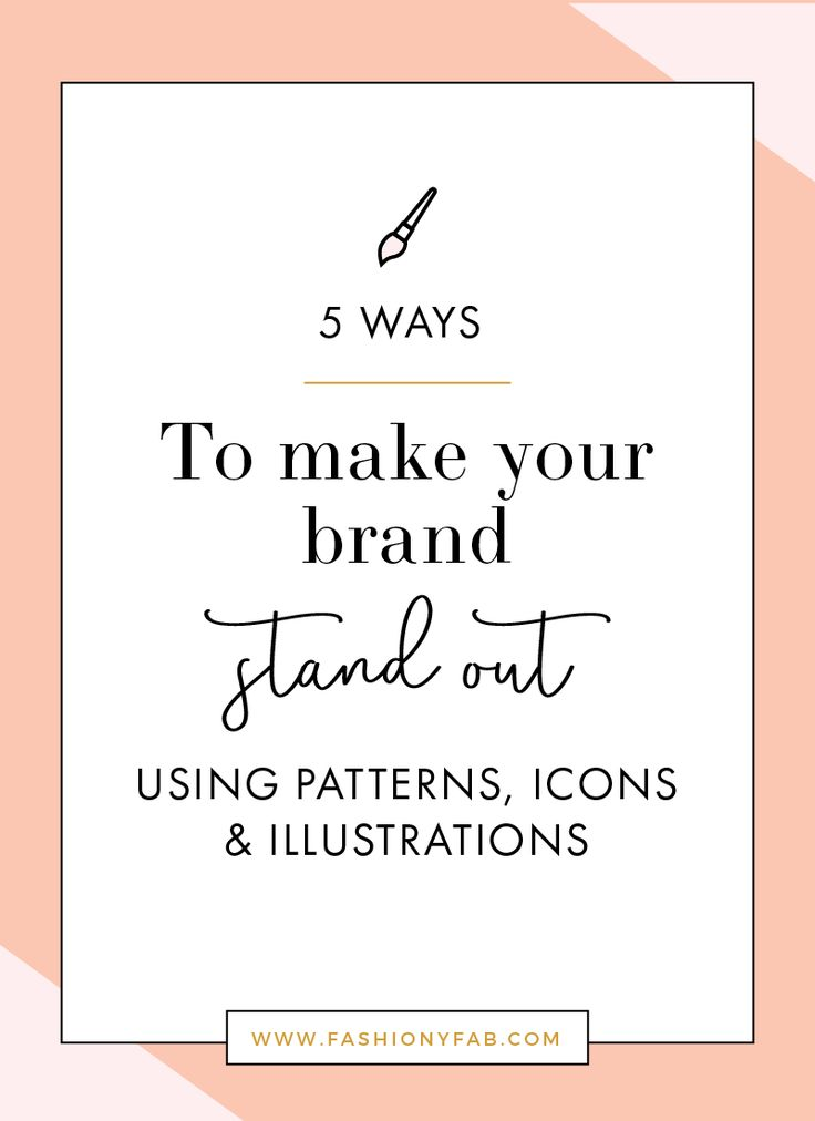 5 Ways to Make Your Brand Stand Out With Patterns and Icons - branding tips, business tips, brand
