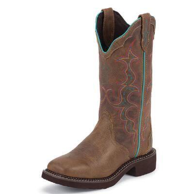 Tan Jaguar Square Toe Ladies Western Boot Was: $109.95                     SALE  $104.95