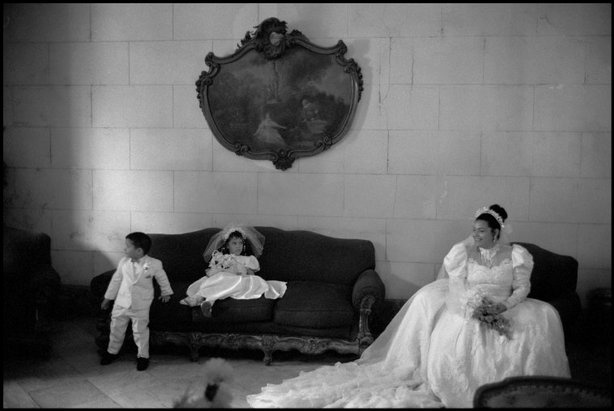 Bride with a flower girl and ring bearer, Havana, Cuba, 2000. Photo by Constantine Manos, Magnum Photos.