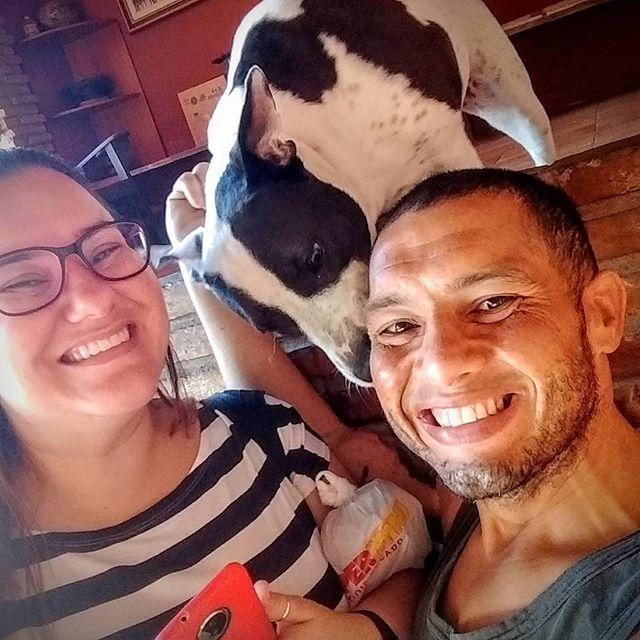 Começar o dia assim...  #meusamores #amoresdaminhavida #pitbull #instapit #instadog #instafamily . . . #677dias #bariatrica #100kgOff #vidaaposbariatrica #deusnocomando #novavidanova #crossfit #weightlift #crossfitter #crossfitlife #crossfitlover #crossfitbrasil #crossfitnordeste #crossfitsergipe #crossfitaracaju #pedalada #pedal #corrida #corridaderua #bodyboard #warofday #aracaju #sergipe #brasil @CasaDeBarro.se @dona.almofada @elplata.joias