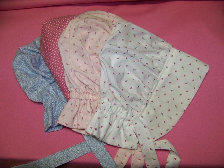Baby Prairie Bonnet Pdf Pattern And Tutorial Sizes 1 To 3