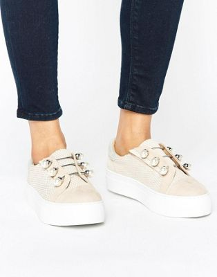 KG By Kurt Keiger Orla Nude Leather Sneakers