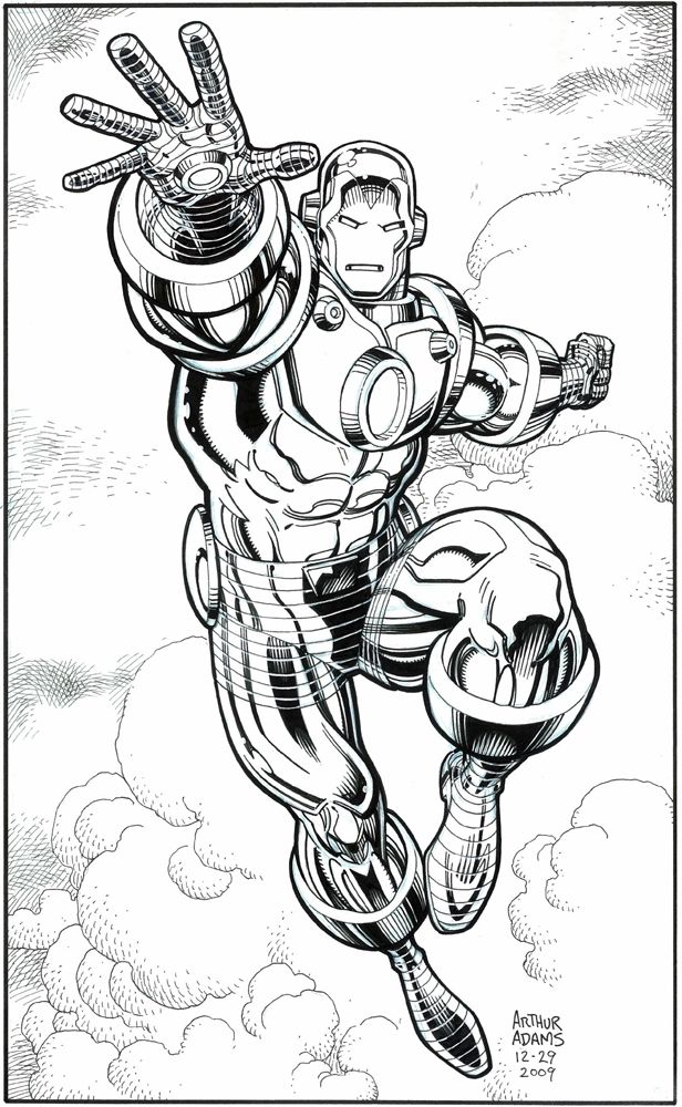 iron manarthur adams  iron man drawing marvel comics
