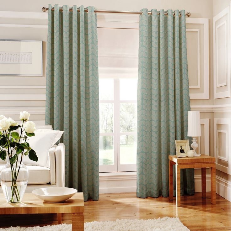 Loretta Teal Lined Eyelet Curtains Item No61845 LORTEA Debenhams