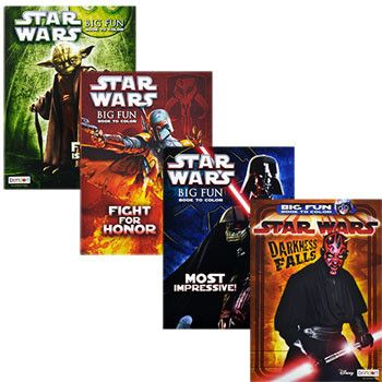 Star Wars Coloring Books, 96 pg. (Set of 4)