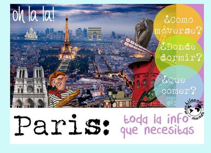 ¿Dónde dormir en París? ¿Que comer? ¿Cómo llegar y cómo moverse por París? A esta y otras preguntas contestamos en nuestra guía de información útil de París