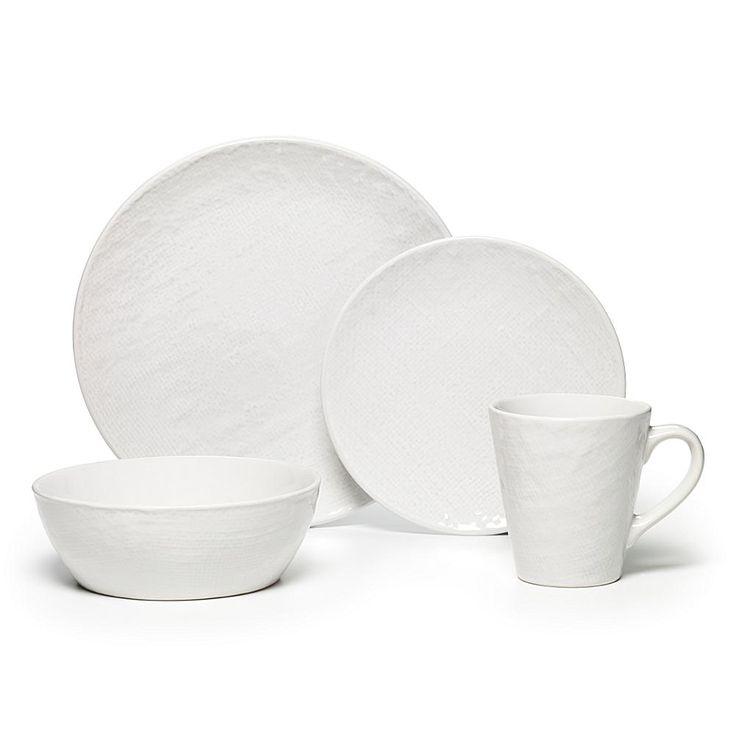 Lifetime Brands Pfaltzgraff 16-piece Landen White Dinnerware Set