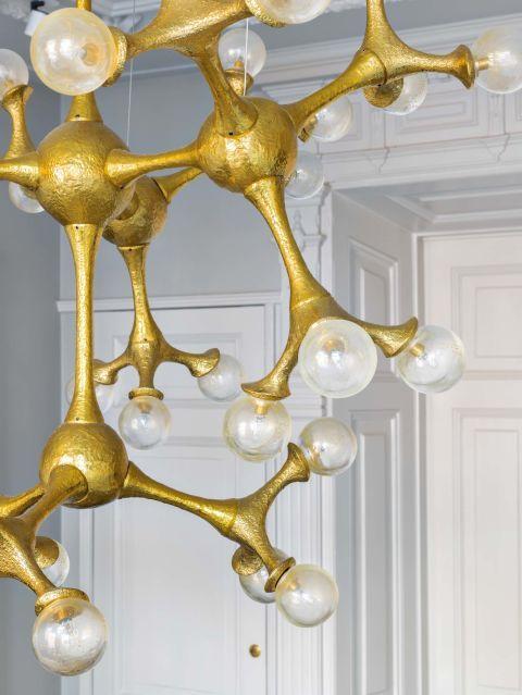 lmpara organic atom en cristal de murano de pieter adam