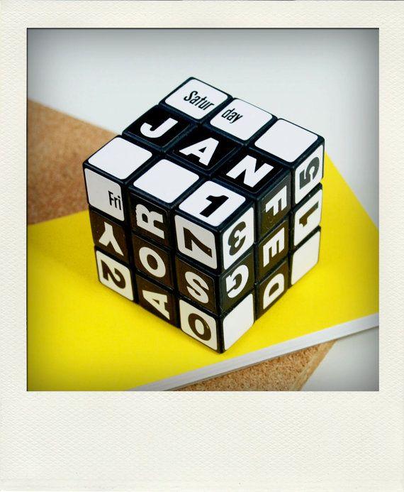 Perpetual Calendar Cube : Perpetual desk calendar no rubik s cube cubes