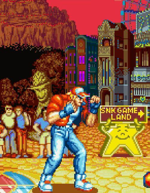 "kazucrash: ""  Garou Densetsu: Shukumei no Tatakai / Fatal Fury: King of Fighters Publisher: SNK Developer: SNK Platform: Arcade, Neo Geo, Neo Geo CD, Sharp X68000, Super Famicom / Super Nintendo Entertainment System, Mega Drive / Genesis, PlayStation..."