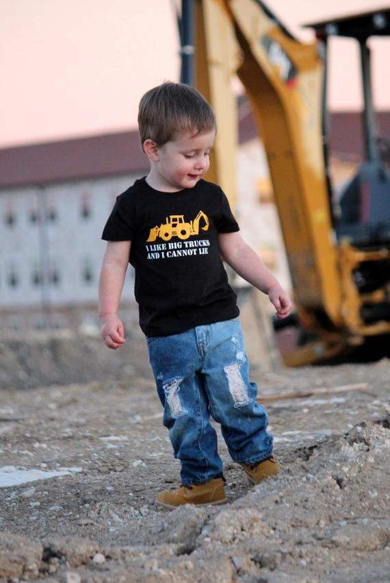 Big Trucks Toddler Boy Baby Boy Funny Boy Shirt Funny Baby