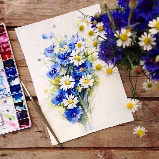 watercolor floral paintings https://t.co/BxckpMQ9CD