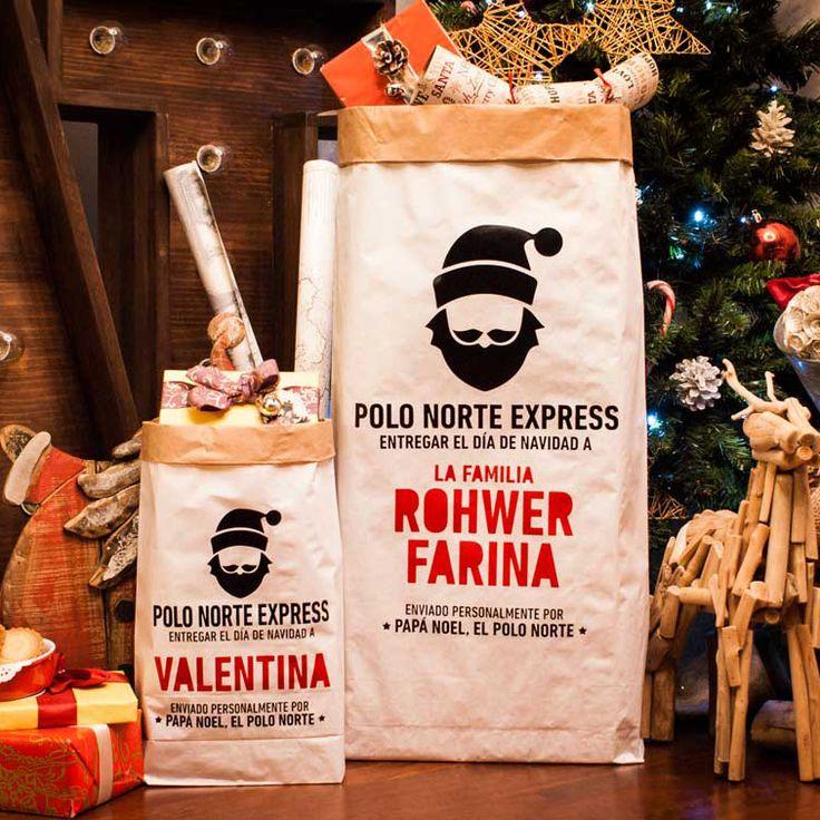 Nuestro Saco de papel es el oficial de Papa Noel para los envíos y almacenamiento de los regalos de nuestros pequeños y no tan pequeños para esta Navidad.