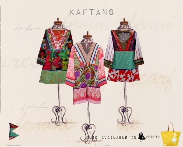 """multi-print kaftans"" by bambiboheme on Polyvore"