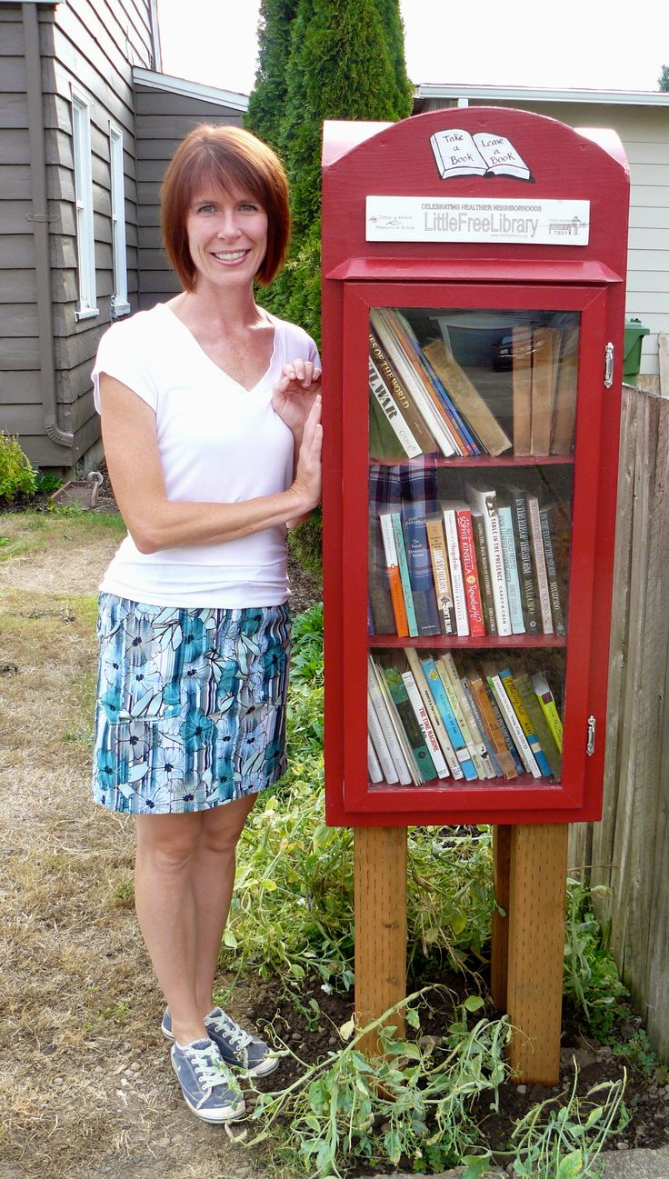 Denise Twist. Salem, OR. A friend shared with me a link to the LFL website earlier this summer and I was immediately hooked. Another good friend and carpenter extraordinaire saw past my faulty sketches and brought my Little Free Library to life. I'm hoping to keep it stocked about half and half between English and Spanish books for adults and kids as there are a lot of Hispanic children that walk by my house twice a day, to and from school.