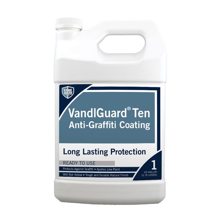 RainguardPro® VandlGuard™ Ten Anti-Graffiti Coating protects most surfaces; concrete, stucco, EIFS, brick, wood, metal, plastic and even painted materials from graffiti defacement. Protects for up to ten years. Eco-friendly and made in the USA.   #RainguardPro