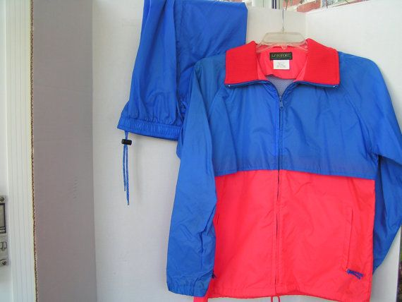 Vintage Rain Suit Woman's Small Golf Rain Suit by LuciesLuvlies.  Etsy.com, $24.75