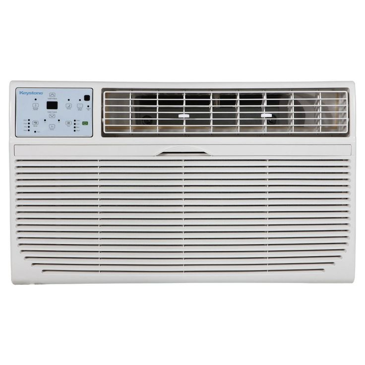 Keystone - 10000-Btu Through the Wall Heat/Cool Air Conditioner, White