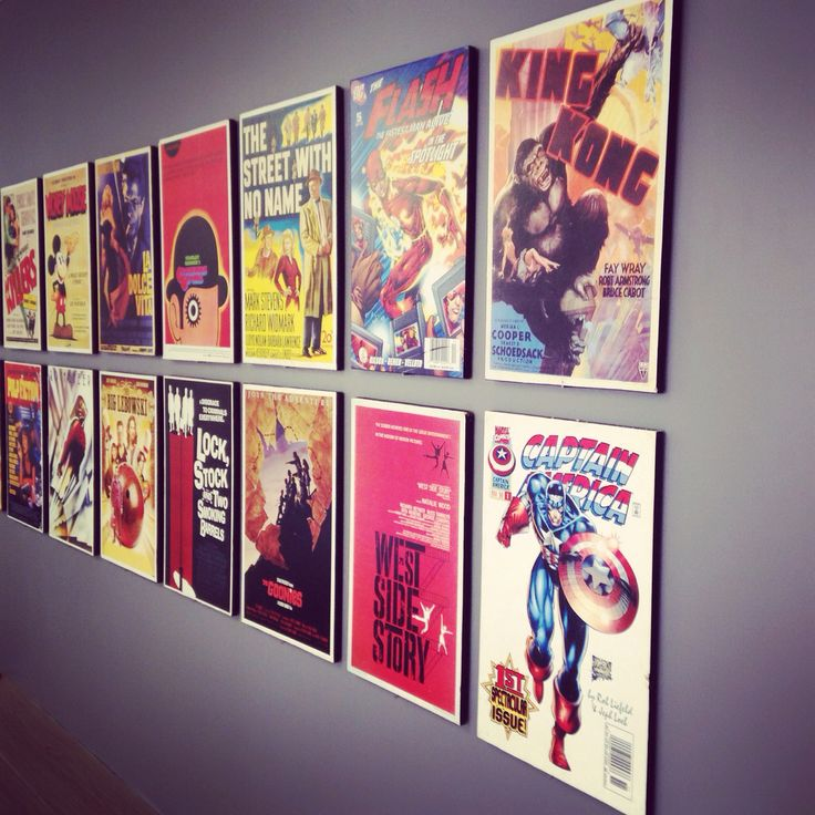 Poster wall at Digital Dynamite offices