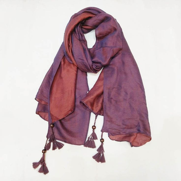 Fashion double side colors scarf/scarves handmade tassels gorgeous hijabs soft long pashmina shawl muslim hijab hot sale muffler