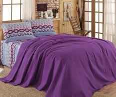Set cuvertura de pat single Tradition Purple