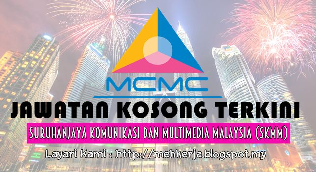 Jawatan Kosong di Suruhanjaya Komunikasi dan Multimedia Malaysia (SKMM) - 8 Sept 2016   On 1 November 2001 the Malaysian Communications and Multimedia Commission also took over regulation of the Postal Industry and was appointed the Certifying Agency pursuant to the Digital Signature Act (1997). In order to assist the Commission in realizing its objectives we invite qualified individuals to join us in the following position:-  Jawatan Kosong Terkini 2016diSuruhanjaya Komunikasi dan…
