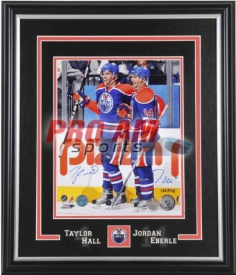 Pro Am Sports - Autographed Pictures - Taylor Hall & Jordan Eberle Dual Signed Edmonton Oilers 11x14 Photo - Edmonton Oilers  To order or for more information or pricing please contact info@roadgearsports.com
