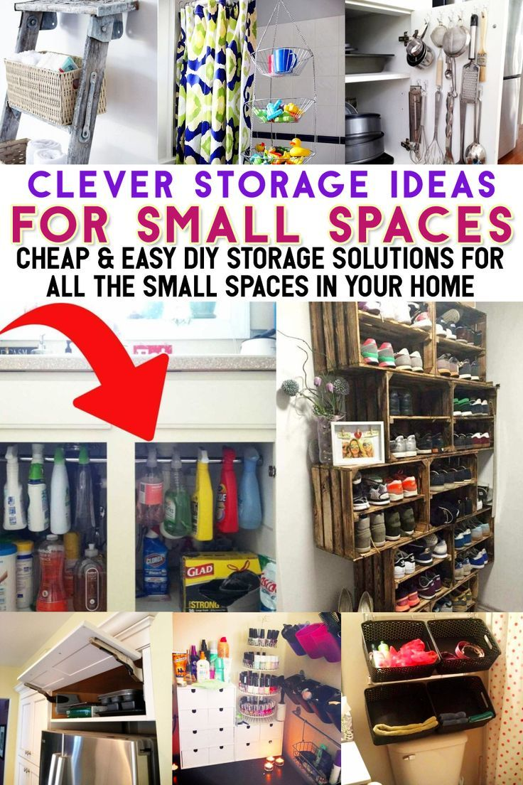 38 Creative Storage Solutions For Small Spaces Awesome Diy Ideas In 2020 Small House Diy Small House Storage Tiny House Storage
