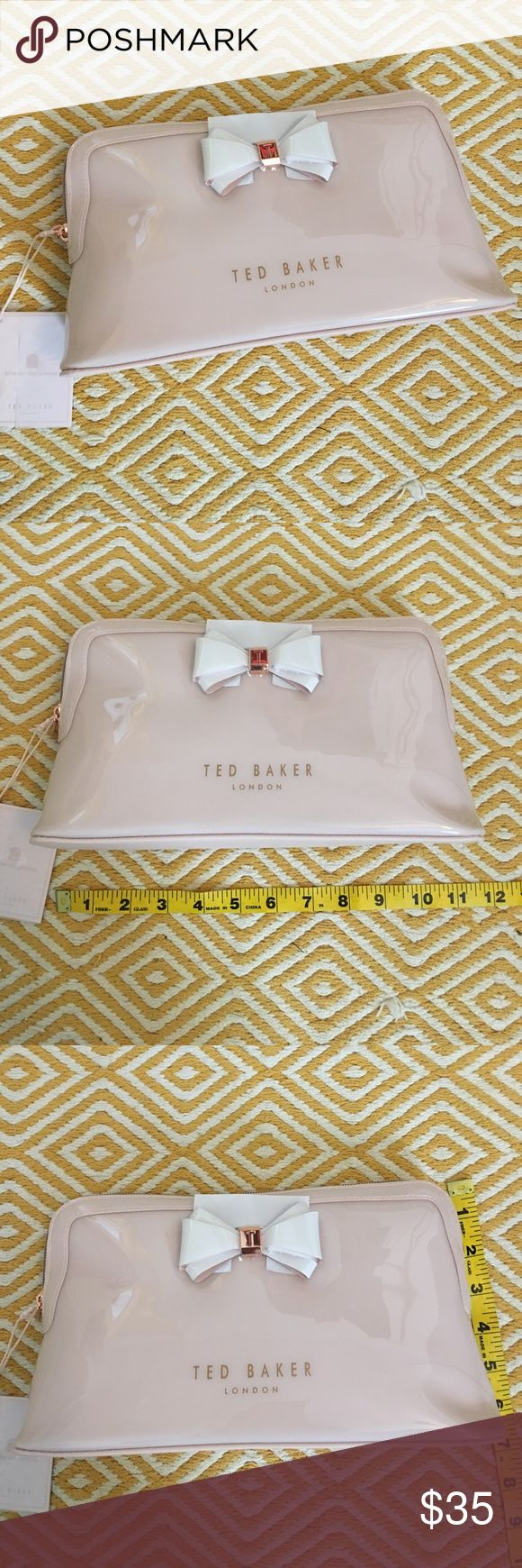 NWT! Ted Baker Abbie Large Cosmetic Case NWT! Ted Baker Abbie Large Cosmetic Case. Brand new — I didn't notice the measurements when I purchased this online, I need a smaller one for a small purse. Authentic (and sooo adorable!). Ted Baker Bags