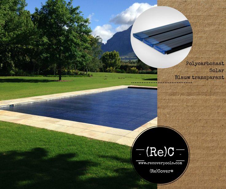 Polycarbonate solar slatted pool cover | Polycarbonaat solar zwembadafdekking lamellen | Schwimmbadabdeckung Polycarbonat solar Lamellen