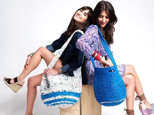 Super cute bags from discarded plastic bags