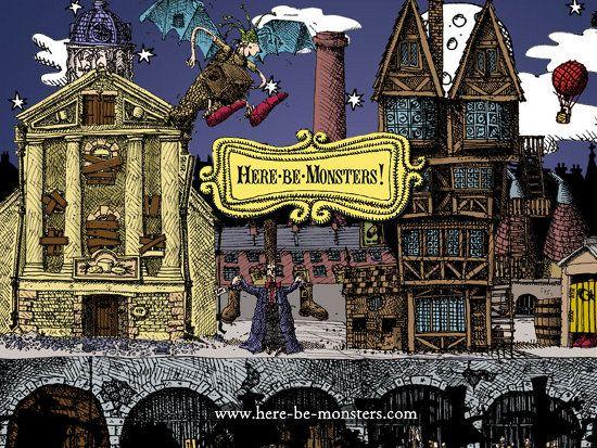 Here be Monsters by Alan Snow - Yaratıklar Aramızda, İthaki Yayınları
