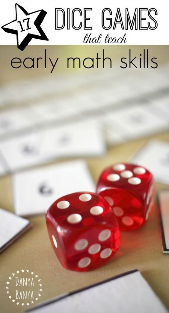 17 Math Dice Games that teach early math skills for kids. Great ideas for kindergarten math!
