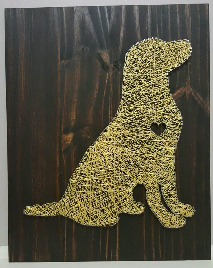 Dog String Art by BoatMade on Etsy https://www.etsy.com/listing/257656239/dog-string-art