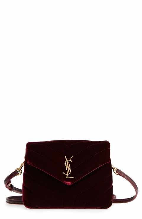 Saint Laurent Toy Lou Lou Velvet Crossbody Bag  5931cdcd332b9