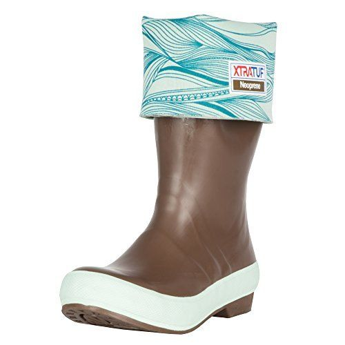 "XTRATUF Legacy Series 15"" Ocean Print-Lined Neoprene Women's Fishing Boots, Copper & Blue (22802G), http://www.amazon.com/dp/B01DED61DO/ref=cm_sw_r_pi_awdm_x_7C3Pxb8Q861H7"